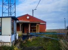 Een foto van Lucas Laermans van het terrein in slechte staat
