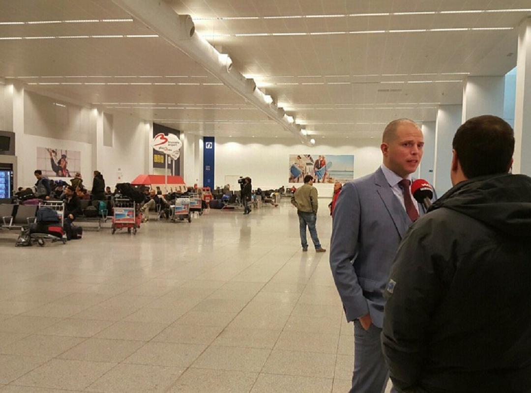 Staatssecretaris voor Asiel en Migratie Theo Francken op Zaventem